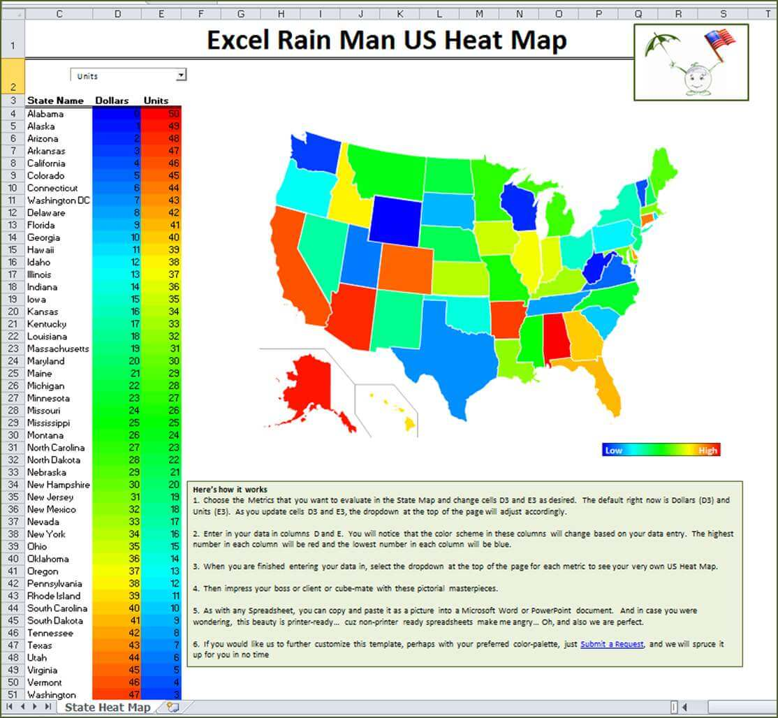 Due To The Use Of Macros The Excel Rain Man Us Heat Map Is Only Compatible For Our Pc Crew Sorry Macsters Let Us Know If You Need Us To Customize